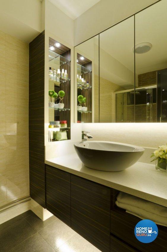 Contemporary Design - Bathroom - HDB 5 Room - Design by Dzign Station Pte ltd