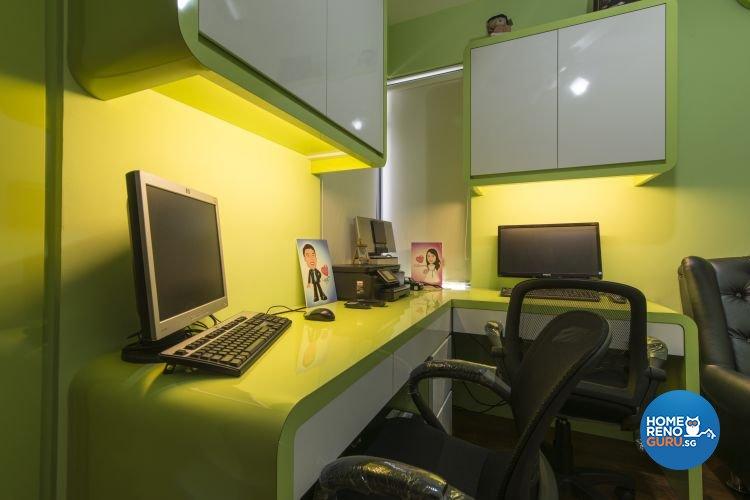 Modern Design - Study Room - HDB 4 Room - Design by Dzign Station Pte ltd