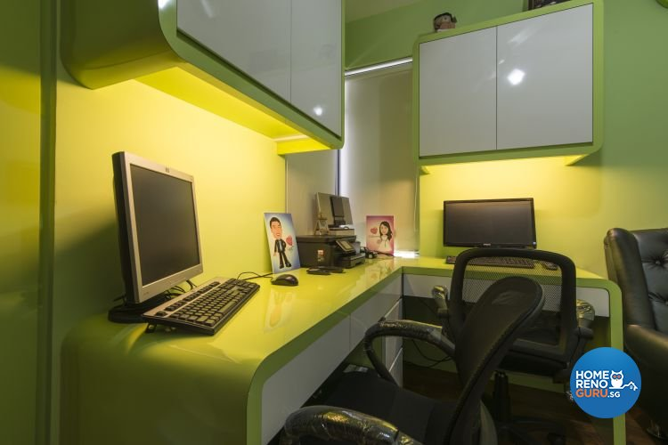 Modern Design - Study Room - HDB 4 Room - Design by Dzign Station Pte ltd