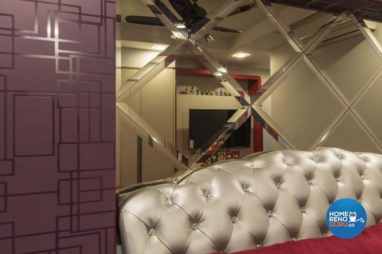 Modern Design - Bedroom - HDB 4 Room - Design by Dzign Station Pte ltd