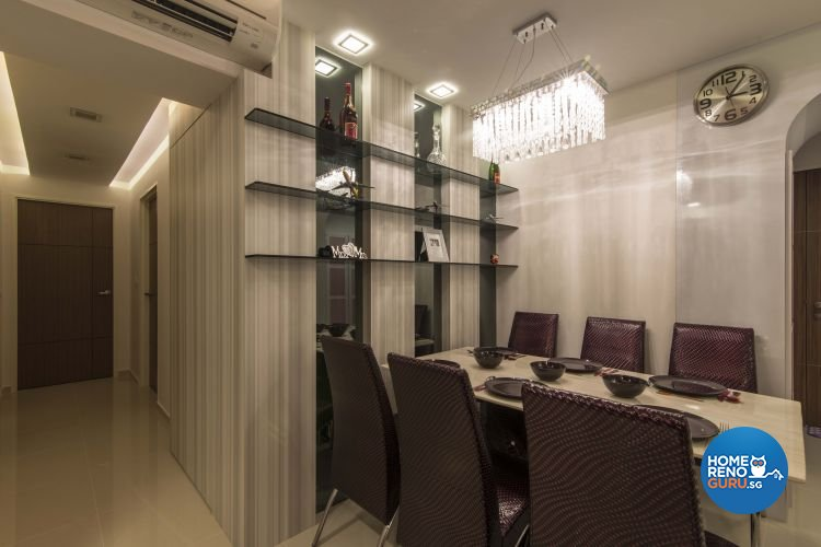 Modern Design - Dining Room - HDB 4 Room - Design by Dzign Station Pte ltd