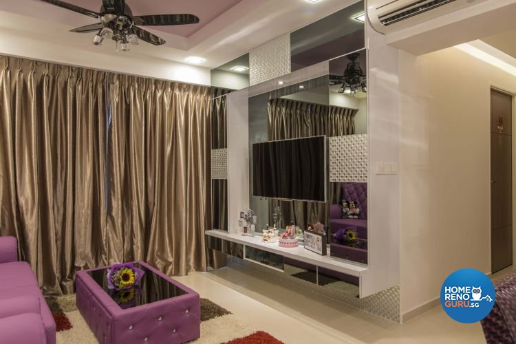 Modern Design - Living Room - HDB 4 Room - Design by Dzign Station Pte ltd