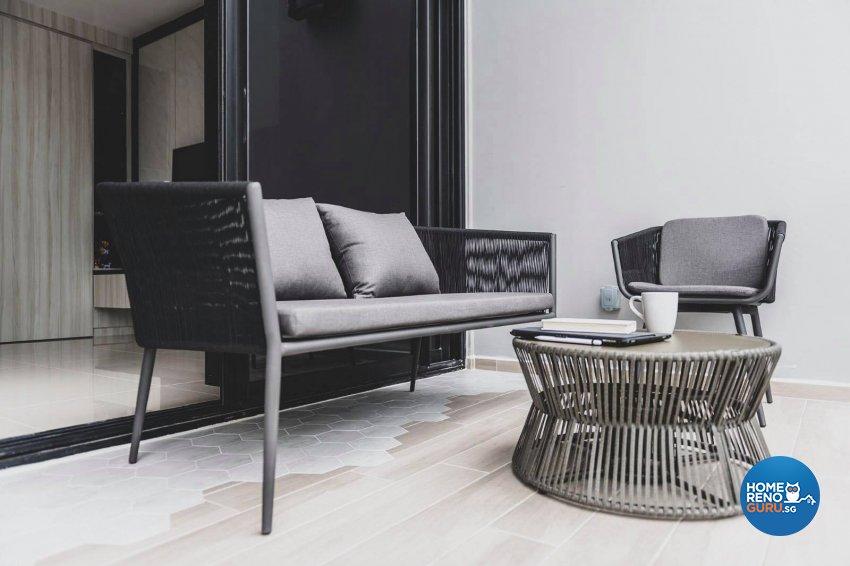 Contemporary, Modern Design - Balcony - Condominium - Design by Earth Interior Design Pte Ltd