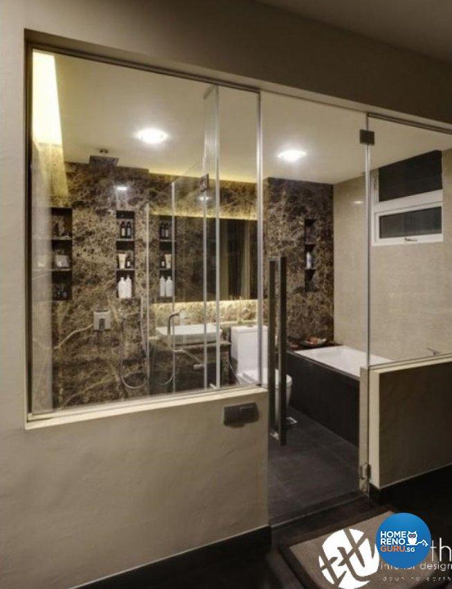 Modern Design - Bathroom - Landed House - Design by Earth Interior Design Pte Ltd