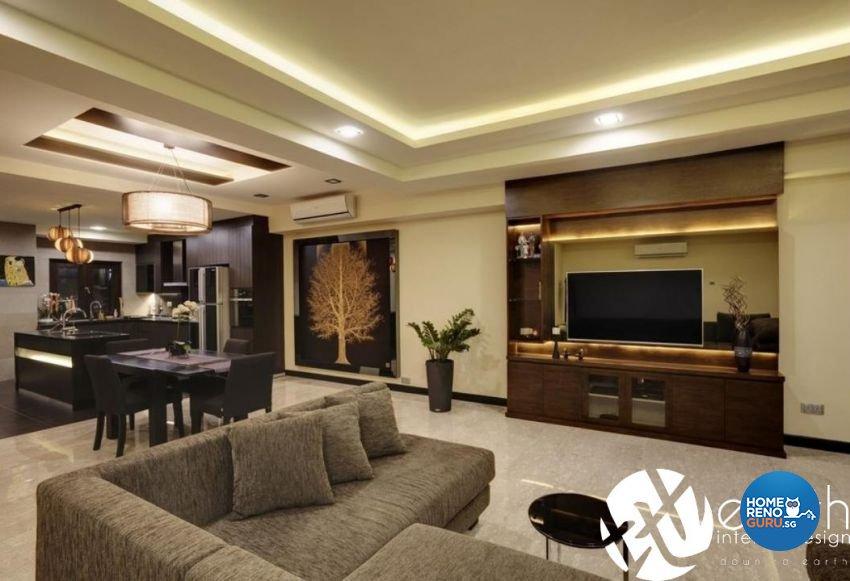 Modern Design - Living Room - Landed House - Design by Earth Interior Design Pte Ltd