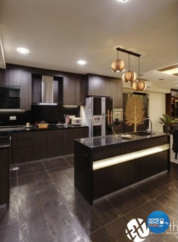 Modern Design - Kitchen - Landed House - Design by Earth Interior Design Pte Ltd