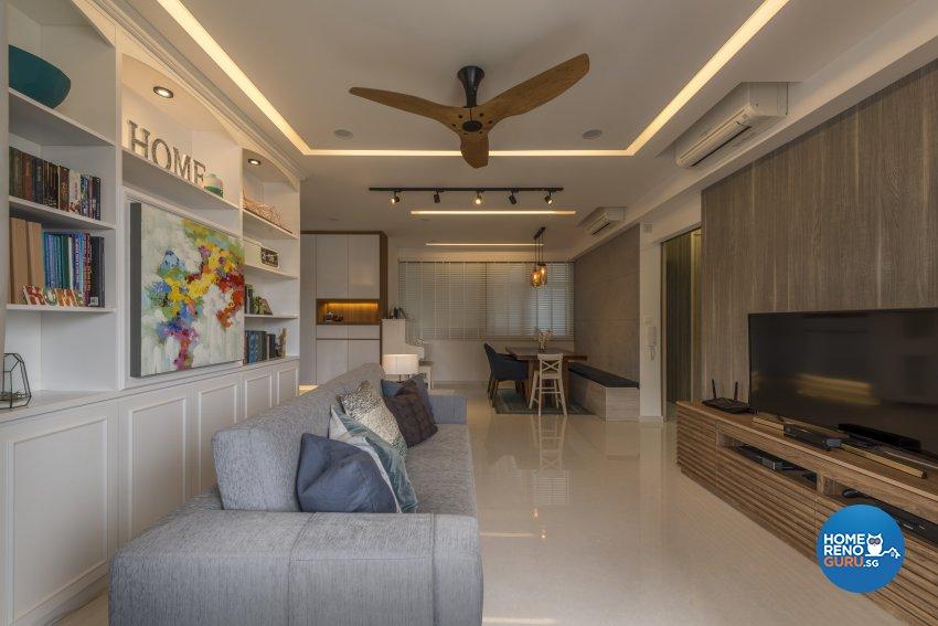Eclectic, Modern Design - Living Room - Condominium - Design by Earth Interior Design Pte Ltd