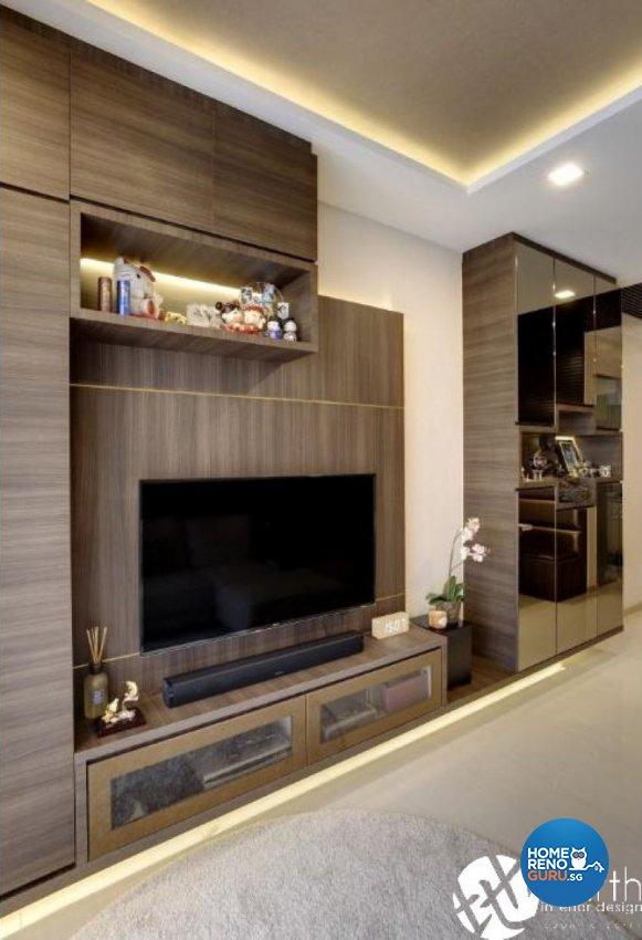 Contemporary Design - Living Room - Condominium - Design by Earth Interior Design Pte Ltd