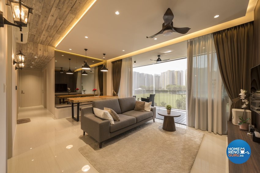 Victorian Design - Living Room - Condominium - Design by Earth Interior Design Pte Ltd