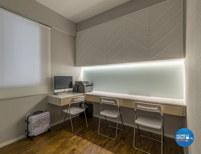 Victorian Design - Study Room - Condominium - Design by Earth Interior Design Pte Ltd