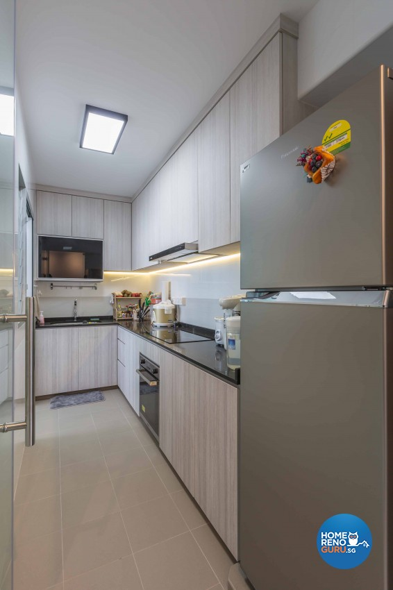 Modern Design - Kitchen - HDB 3 Room - Design by EC Vision Design Pte Ltd