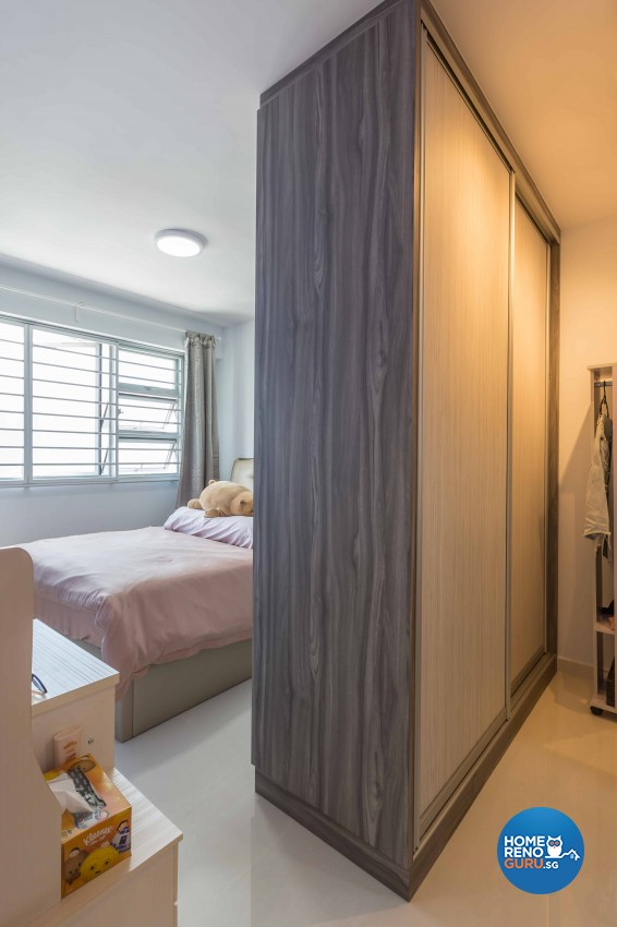 Modern Design - Bedroom - HDB 3 Room - Design by EC Vision Design Pte Ltd