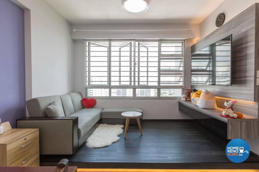 Modern Design - Living Room - HDB 3 Room - Design by EC Vision Design Pte Ltd