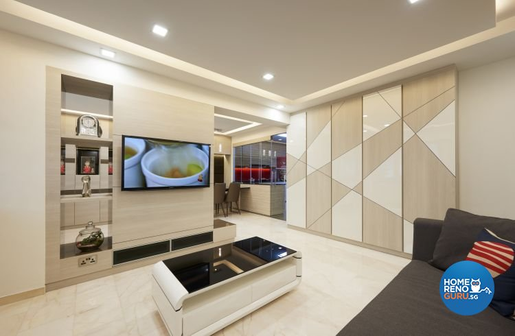 Contemporary, Modern Design - Living Room - HDB 5 Room - Design by EC Vision Design Pte Ltd