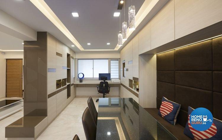 Contemporary, Modern Design - Dining Room - HDB 5 Room - Design by EC Vision Design Pte Ltd