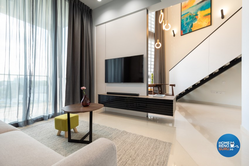 Modern Design - Living Room - Condominium - Design by Edgeline Planners Pte Ltd