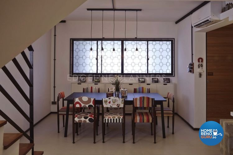 Industrial, Scandinavian, Vintage Design - Dining Room - HDB Executive Apartment - Design by Edgeline Planners Pte Ltd