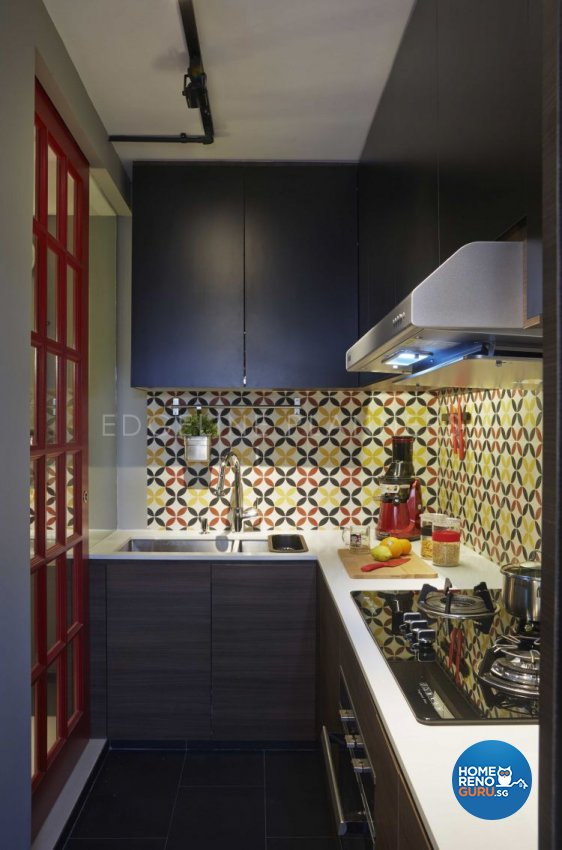 Industrial, Scandinavian, Vintage Design - Kitchen - HDB Executive Apartment - Design by Edgeline Planners Pte Ltd