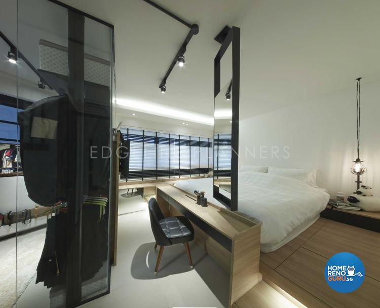 Industrial, Scandinavian, Vintage Design - Bedroom - HDB Executive Apartment - Design by Edgeline Planners Pte Ltd