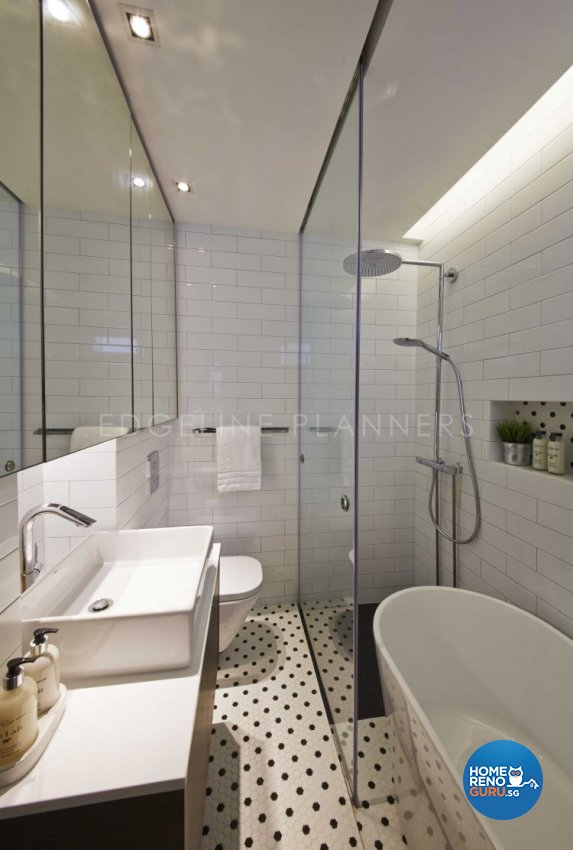 Industrial, Scandinavian, Vintage Design - Bathroom - HDB Executive Apartment - Design by Edgeline Planners Pte Ltd