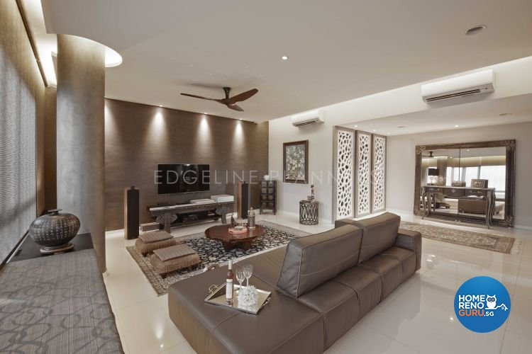 Industrial, Modern Design - Living Room - Condominium - Design by Edgeline Planners Pte Ltd