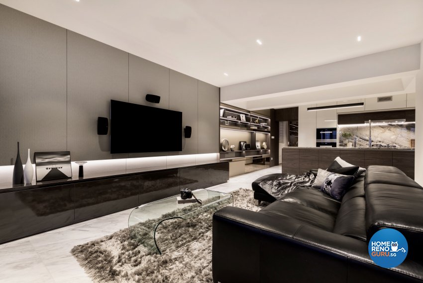 Modern Design - Living Room - HDB Executive Apartment - Design by Edgeline Planners Pte Ltd