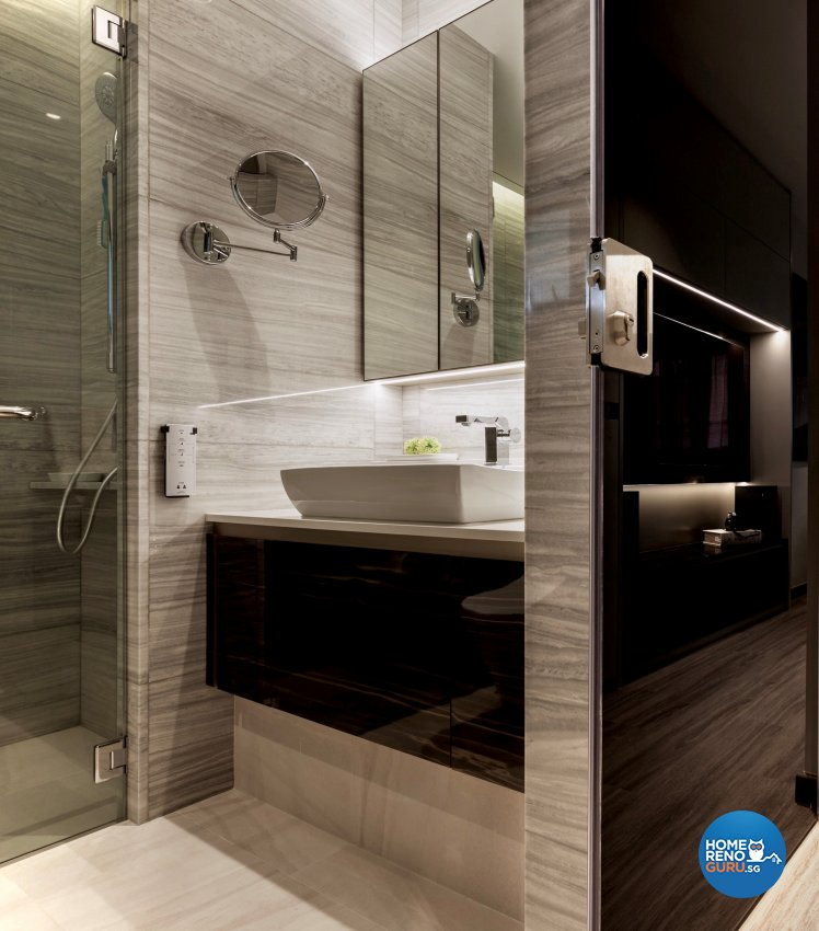 Modern Design - Bathroom - HDB Executive Apartment - Design by Edgeline Planners Pte Ltd