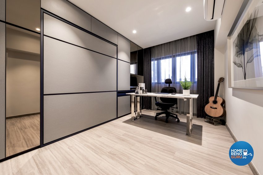 Modern Design - Study Room - HDB Executive Apartment - Design by Edgeline Planners Pte Ltd