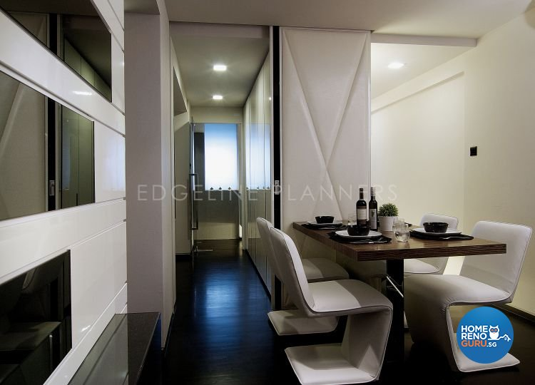 Contemporary, Modern Design - Dining Room - HDB 3 Room - Design by Edgeline Planners Pte Ltd