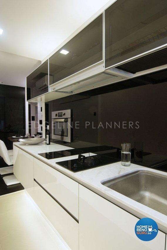 Contemporary, Modern Design - Kitchen - HDB 3 Room - Design by Edgeline Planners Pte Ltd