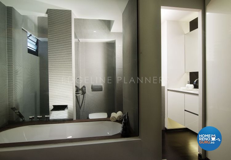 Contemporary, Modern Design - Bathroom - HDB 3 Room - Design by Edgeline Planners Pte Ltd