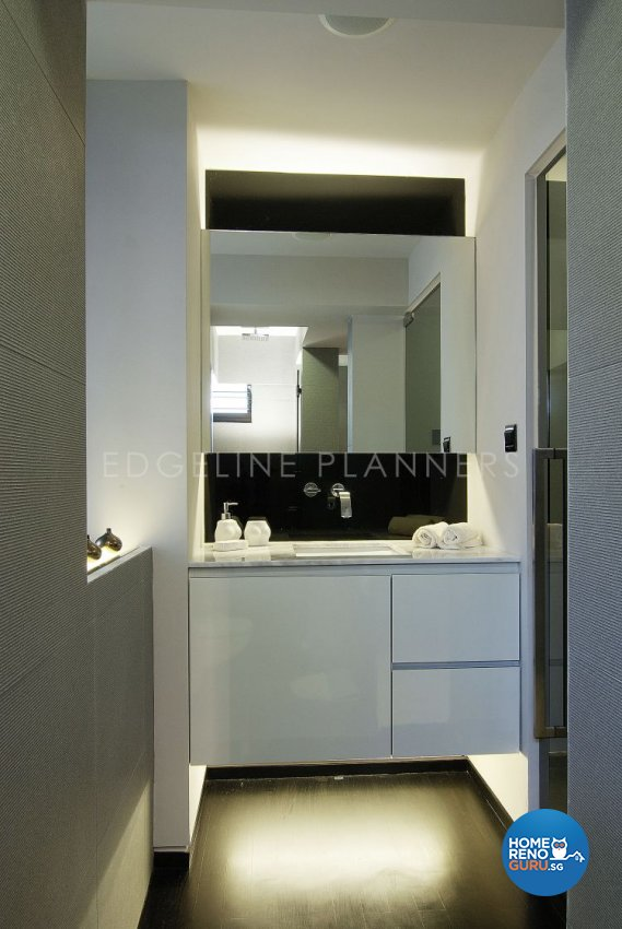 Contemporary, Modern Design - Bathroom - HDB 3 Room - Design by Edgeline Planners Pte Ltd