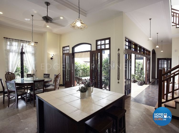 Classical, Country Design - Dining Room - Landed House - Design by Edgeline Planners Pte Ltd
