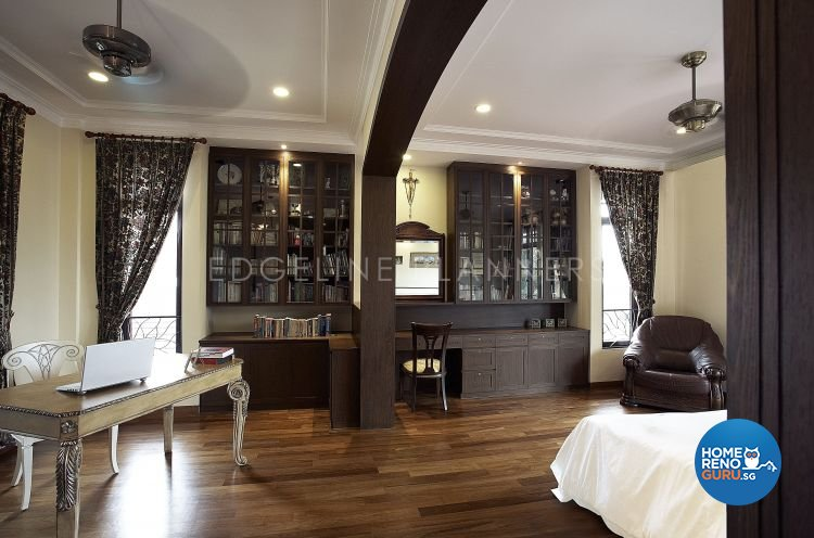 Classical, Country Design - Study Room - Landed House - Design by Edgeline Planners Pte Ltd
