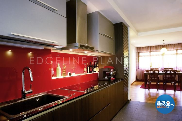 Contemporary, Modern Design - Kitchen - HDB Executive Apartment - Design by Edgeline Planners Pte Ltd
