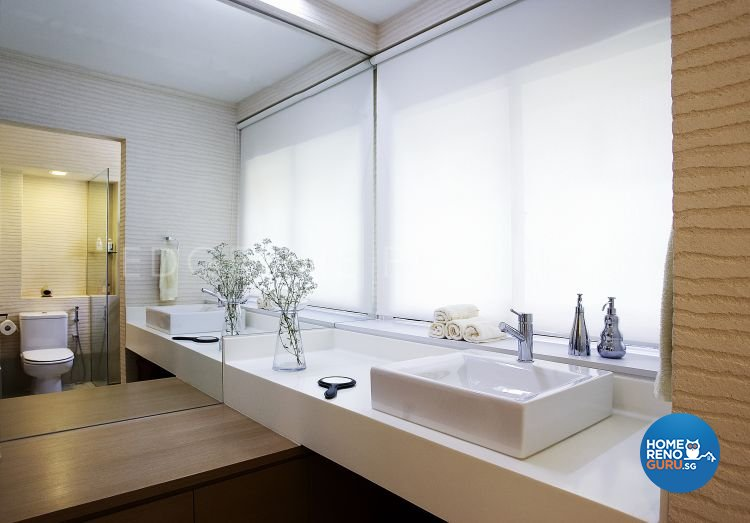 Contemporary, Modern Design - Bathroom - HDB Executive Apartment - Design by Edgeline Planners Pte Ltd
