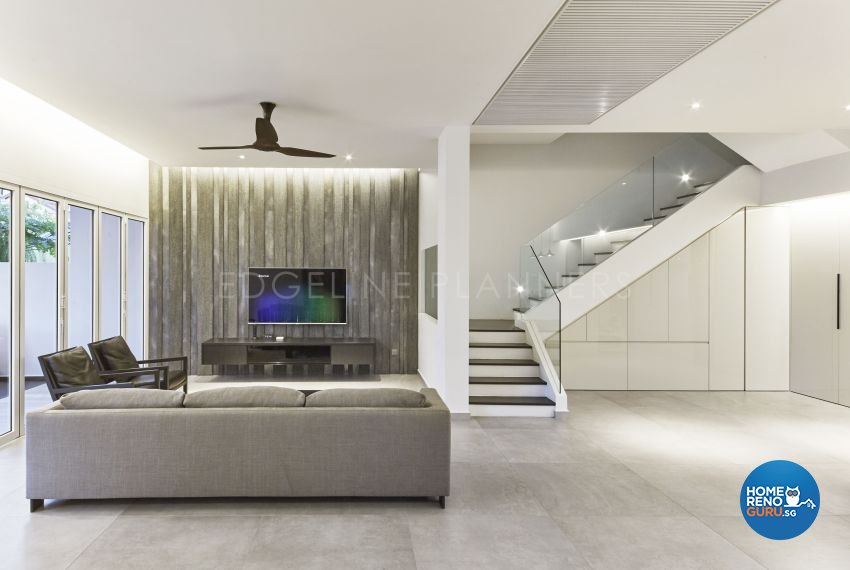 Minimalist, Modern Design - Living Room - Landed House - Design by Edgeline Planners Pte Ltd