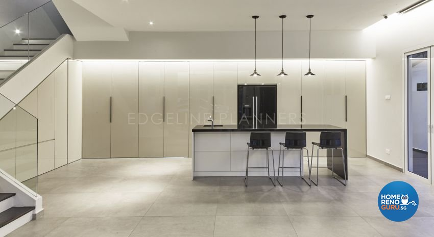 Contemporary, Minimalist, Modern Design - Dining Room - Landed House - Design by Edgeline Planners Pte Ltd