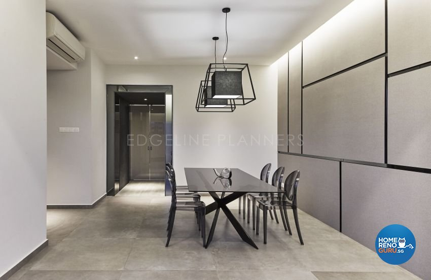 Minimalist, Modern Design - Dining Room - Landed House - Design by Edgeline Planners Pte Ltd
