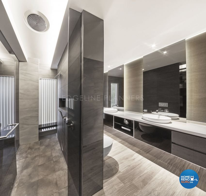 Contemporary, Minimalist, Modern Design - Bathroom - Landed House - Design by Edgeline Planners Pte Ltd