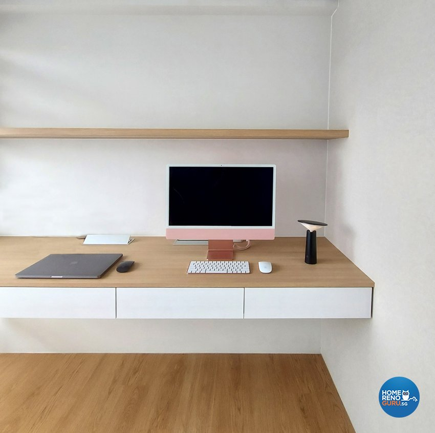 Contemporary Design - Study Room - HDB Studio Apartment - Design by Edgeline Planners Pte Ltd