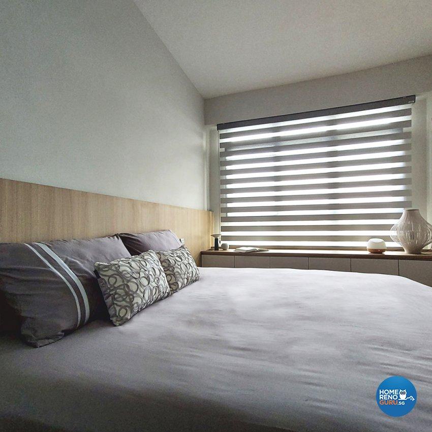 Contemporary Design - Bedroom - HDB Studio Apartment - Design by Edgeline Planners Pte Ltd