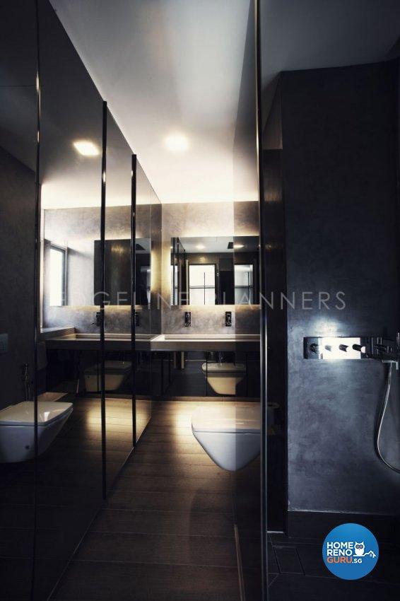 Minimalist, Modern Design - Bathroom - Landed House - Design by Edgeline Planners Pte Ltd