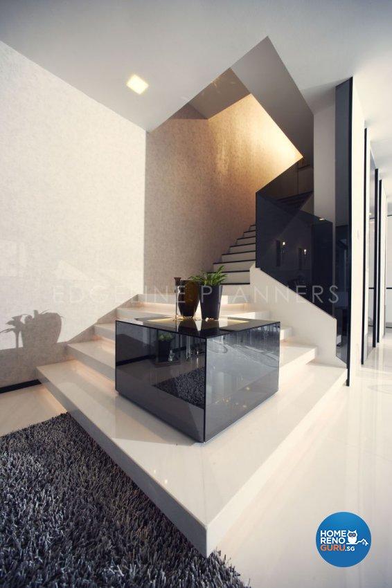 Minimalist, Modern Design - Living Room - Landed House - Design by Edgeline Planners Pte Ltd