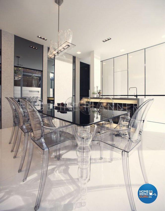 Minimalist, Modern Design - Dining Room - Landed House - Design by Edgeline Planners Pte Ltd