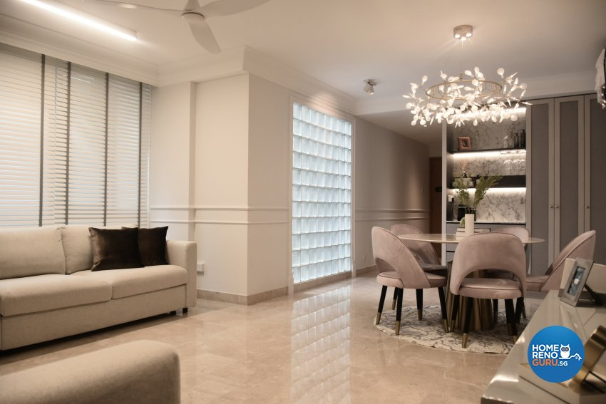 Classical, Modern Design - Living Room - Condominium - Design by Edgeline Planners Pte Ltd