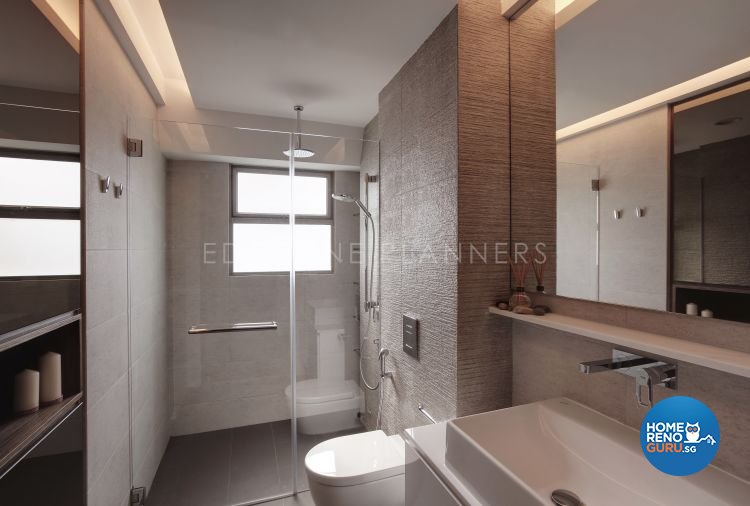 Contemporary, Modern Design - Bathroom - Condominium - Design by Edgeline Planners Pte Ltd