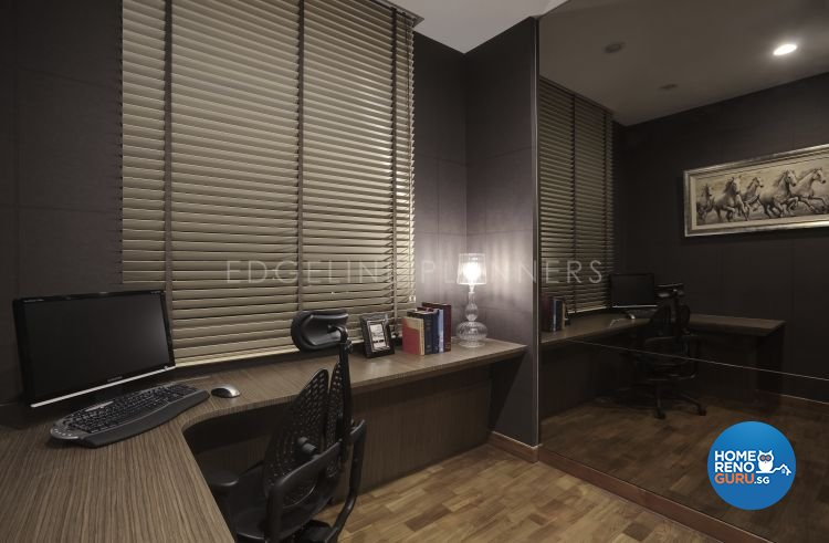 Contemporary, Modern Design - Study Room - Condominium - Design by Edgeline Planners Pte Ltd