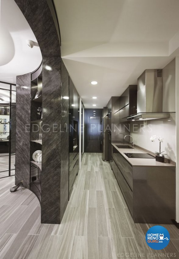 Contemporary Design - Kitchen - Condominium - Design by Edgeline Planners Pte Ltd