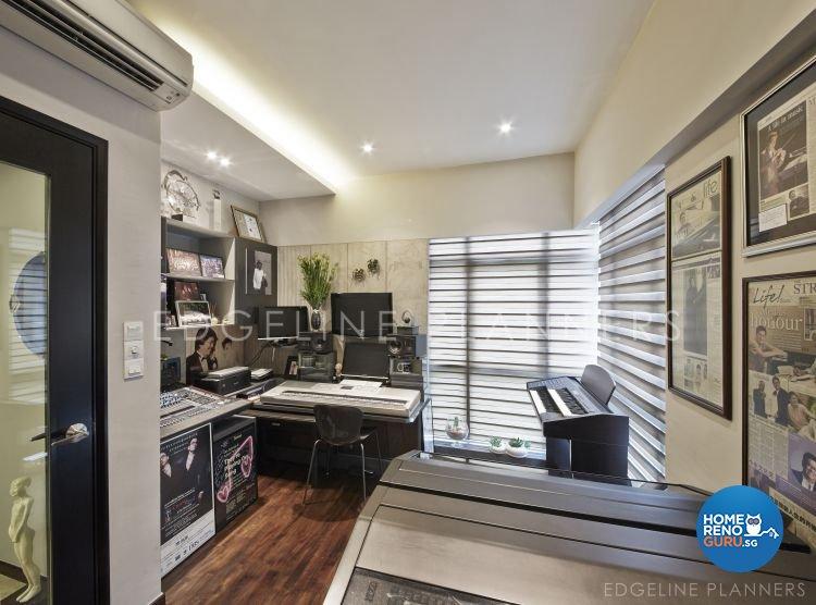 Contemporary Design - Entertainment Room - Condominium - Design by Edgeline Planners Pte Ltd